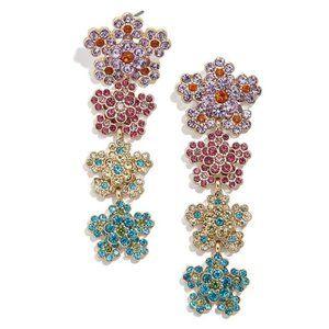 BAUBLEBAR Multicolor Magnolia Flower Drop Earrings